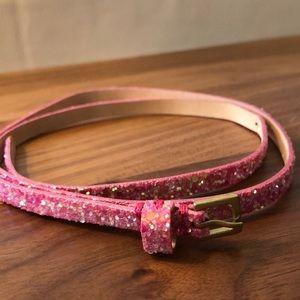 JCrew (Crewcuts) girls' sparkling leather belt